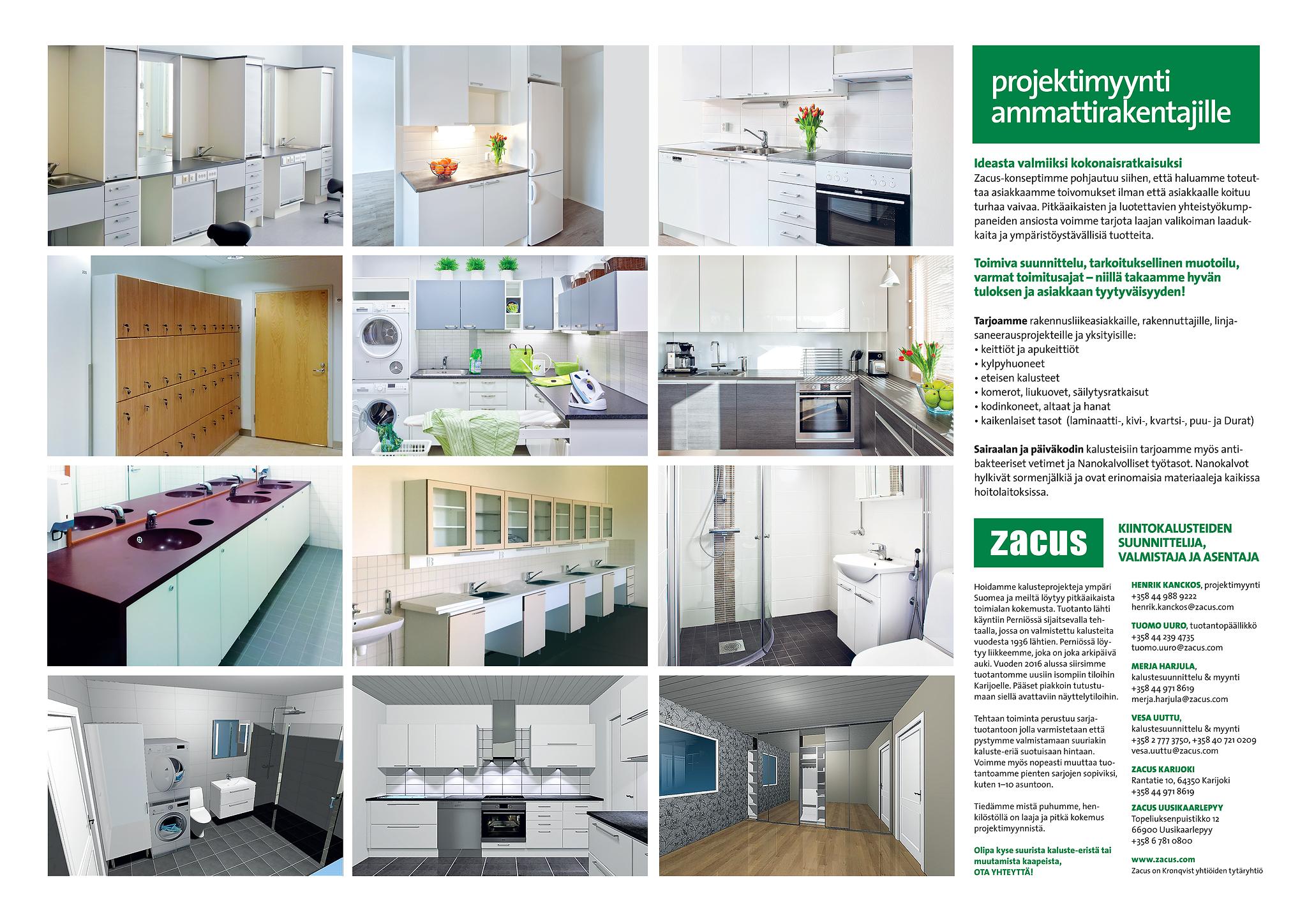 zacus, esite, keittiö, kotikaluste, kylpyhuone, projektimyynti » Zacus Ab Oy